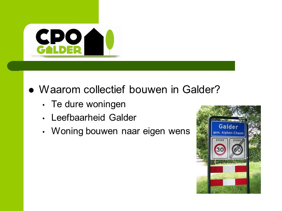 Vereniging CPO Galder Wat is CPO.