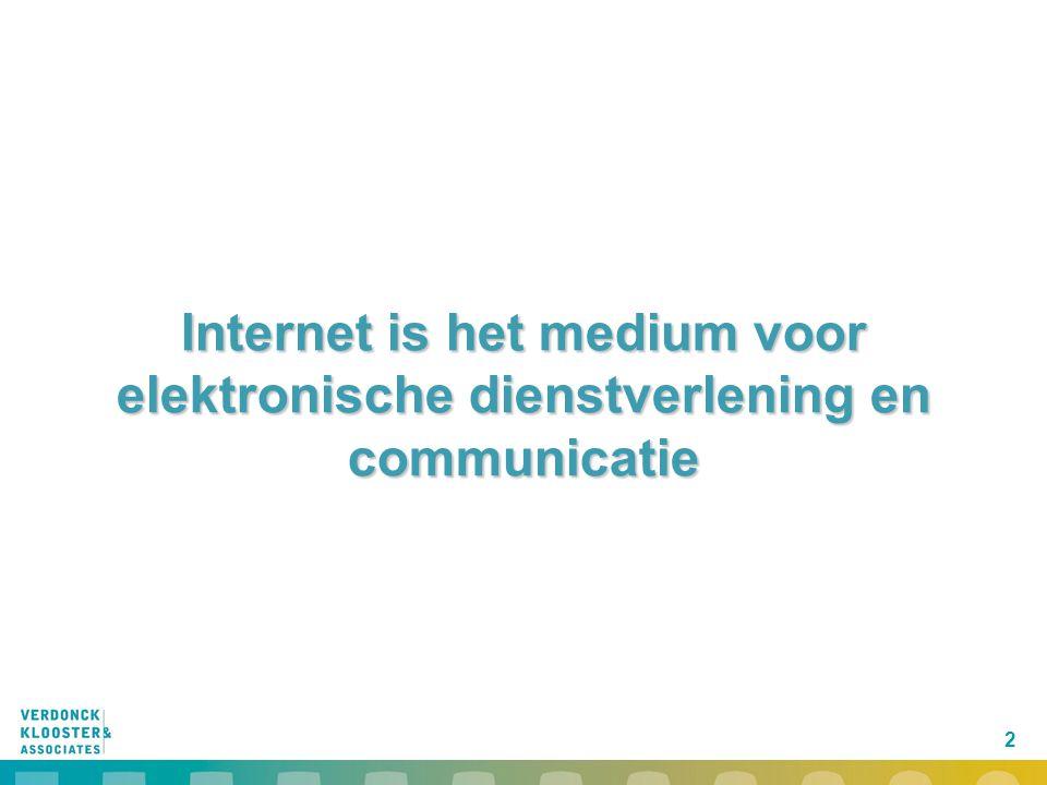 2 Internet is het medium voor elektronische dienstverlening en communicatie