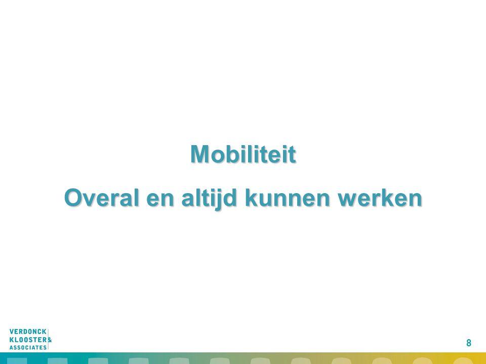 8 Mobiliteit Overal en altijd kunnen werken