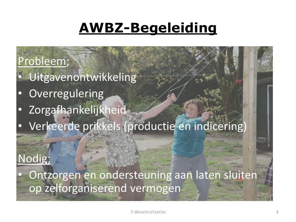 WWnV Probleem; Lappendeken aan regelingen/instellingen Uitgavenstijging Verkeerde / geen prikkels, focus op output ipv outcome/ geen prikkel voor werkgevers m.b.t.