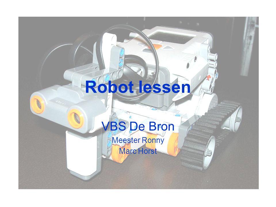 Robot lessen VBS De Bron Meester Ronny Marc Horst