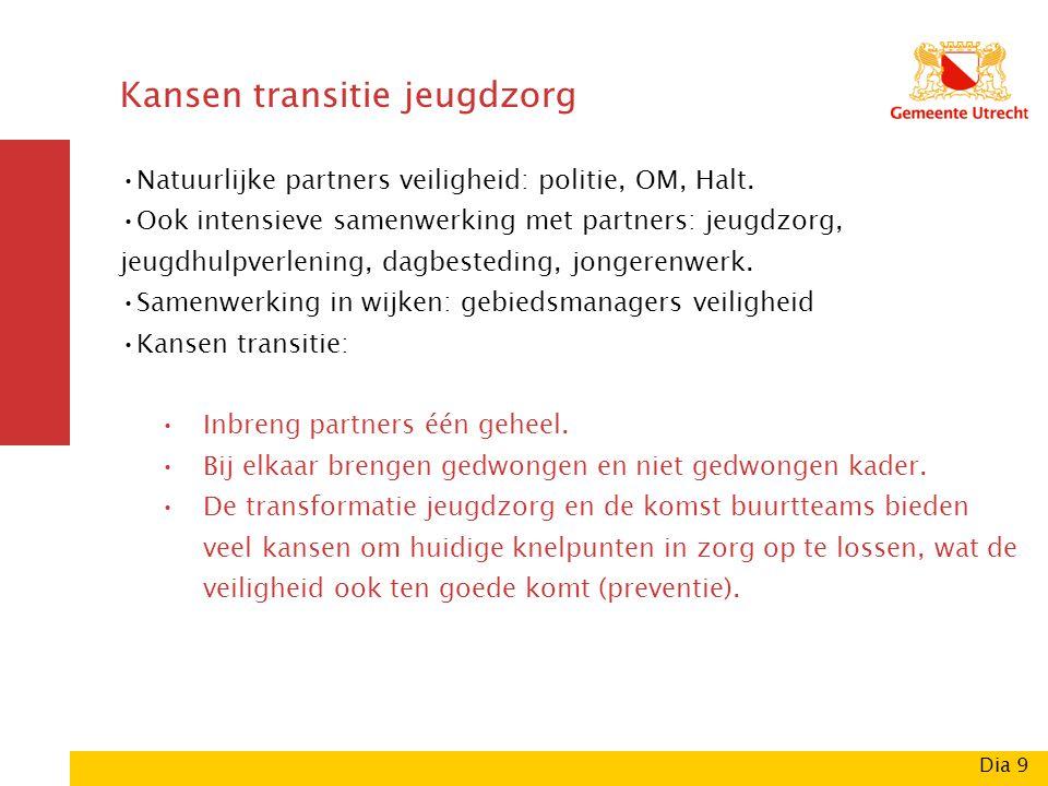 Kansen transitie jeugdzorg Natuurlijke partners veiligheid: politie, OM, Halt.