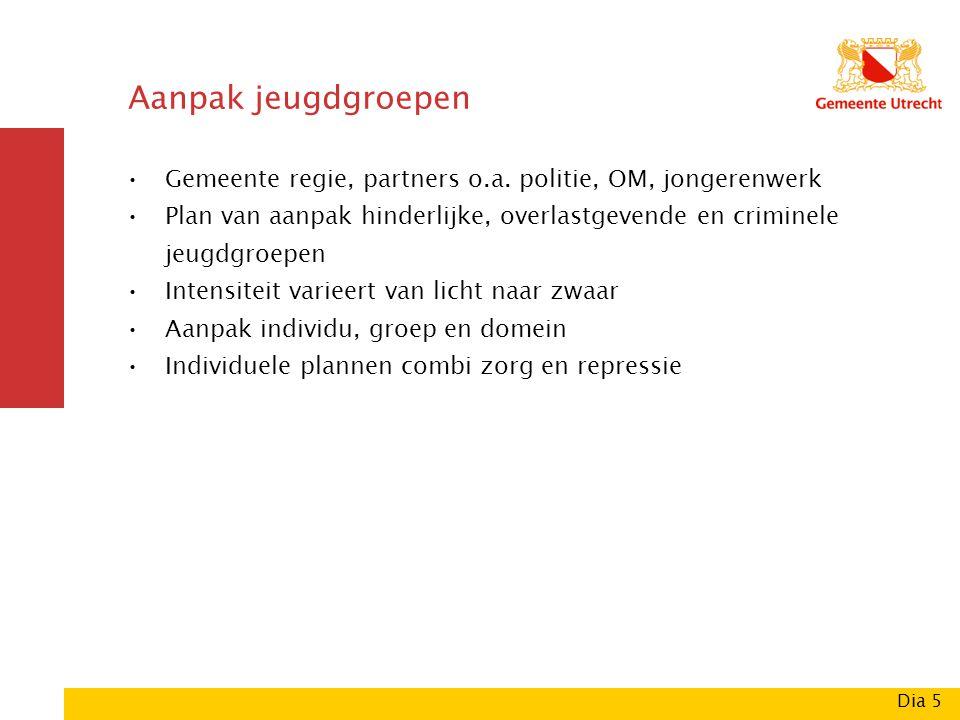 Aanpak jeugdgroepen Gemeente regie, partners o.a.