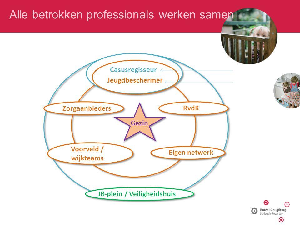 Alle betrokken professionals werken samen