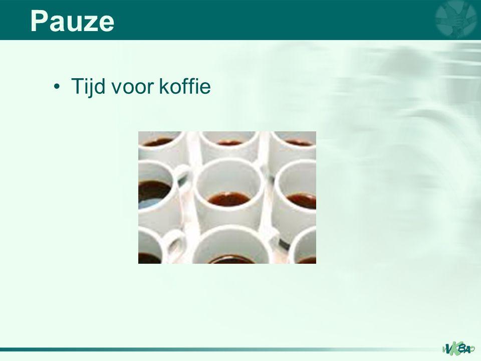 Pauze Tijd voor koffie
