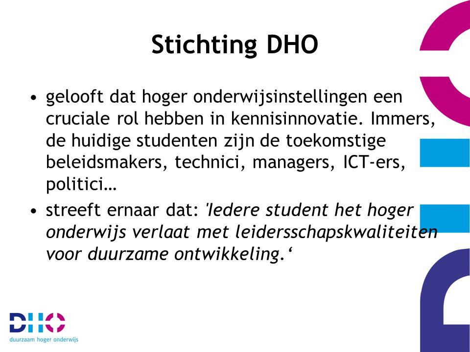 Stichting DHO gelooft dat hoger onderwijsinstellingen een cruciale rol hebben in kennisinnovatie.
