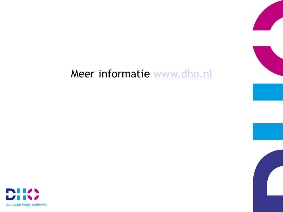 Meer informatie www.dho.nlwww.dho.nl