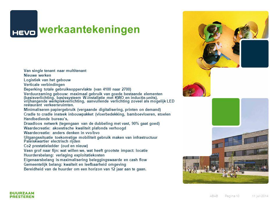 werkaantekeningen Van single tenant naar multitenant Nieuwe werken Logistiek van het gebouw Verticale verbindingen Beperking totale gebruiksoppervlakt