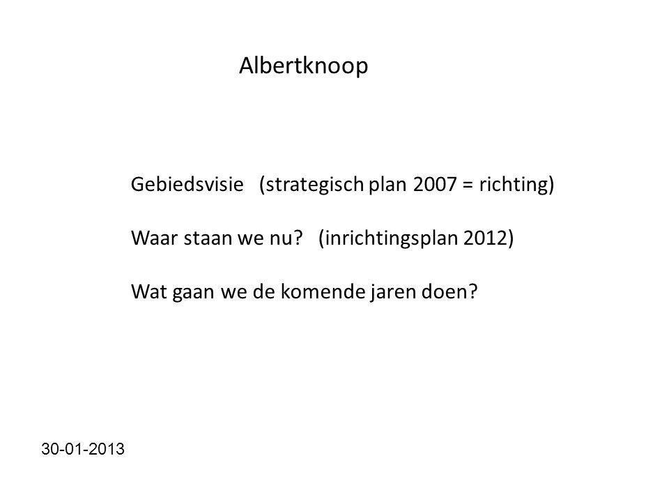 Albertknoop Gebiedsvisie (strategisch plan 2007 = richting) Waar staan we nu.