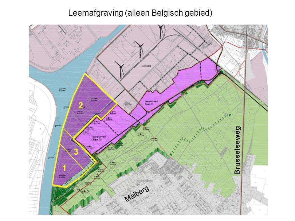 Brusselseweg Leemafgraving (alleen Belgisch gebied) 1 2 Malberg 3