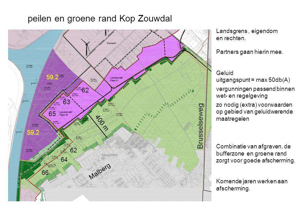 Malberg Brusselseweg 59.2 62 63 65 62 64 66 Landsgrens, eigendom en rechten. Partners gaan hierin mee. Geluid uitgangspunt = max 50db(A) vergunningen