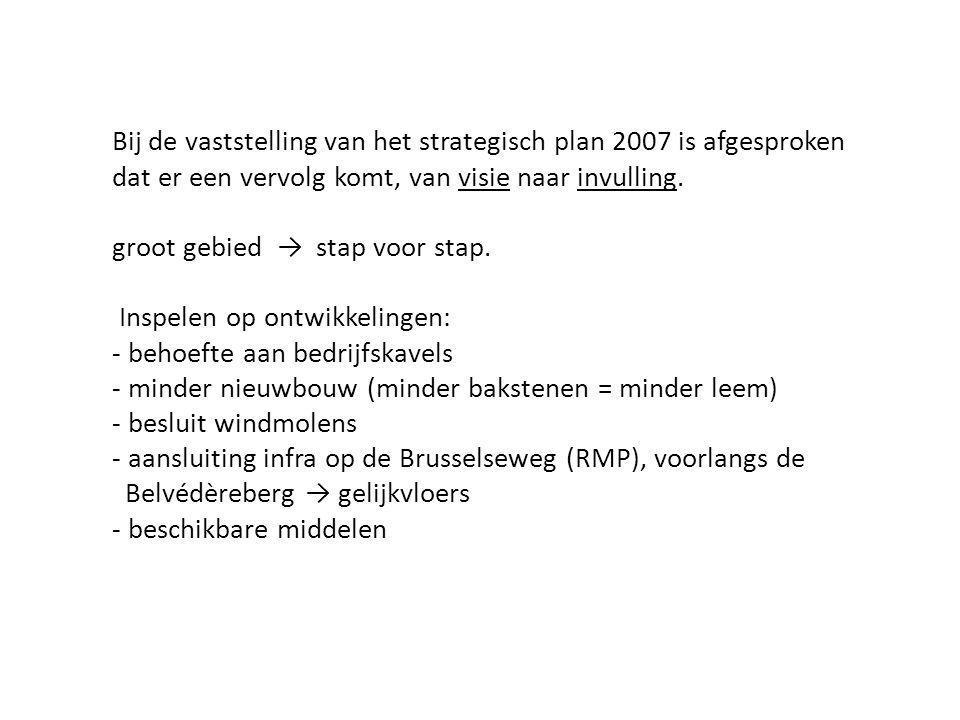 Bij de vaststelling van het strategisch plan 2007 is afgesproken dat er een vervolg komt, van visie naar invulling.