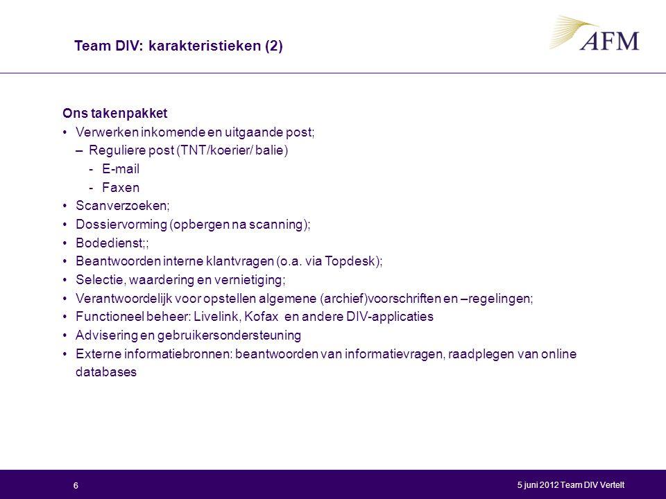 Ons takenpakket Verwerken inkomende en uitgaande post; –Reguliere post (TNT/koerier/ balie) -E-mail -Faxen Scanverzoeken; Dossiervorming (opbergen na