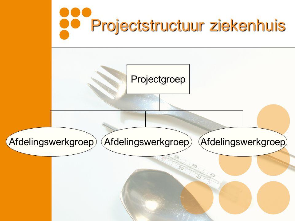 Projectstructuur ziekenhuis Projectgroep Afdelingswerkgroep