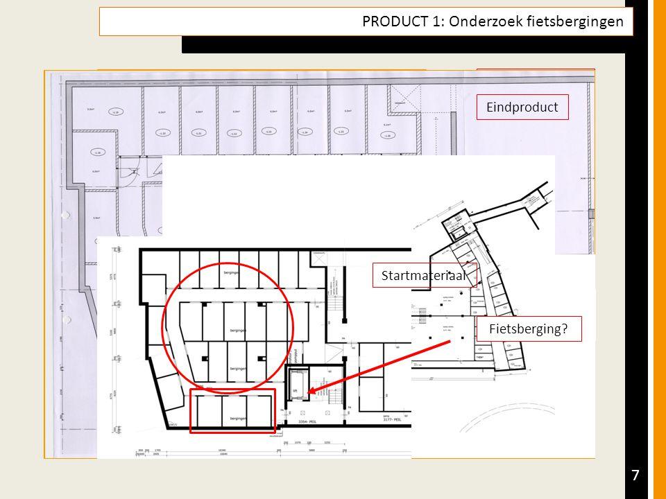 Tussenproducten 7 PRODUCT 1: Onderzoek fietsbergingen Opdracht Product & Doel Aanpak (Tussen)producten Resultaatsbeschrijving & Reflectie Leerdoelen Nieuwmarkt Zuid te Lichtenvoorde Het plan van fase 2 bevat o.a.