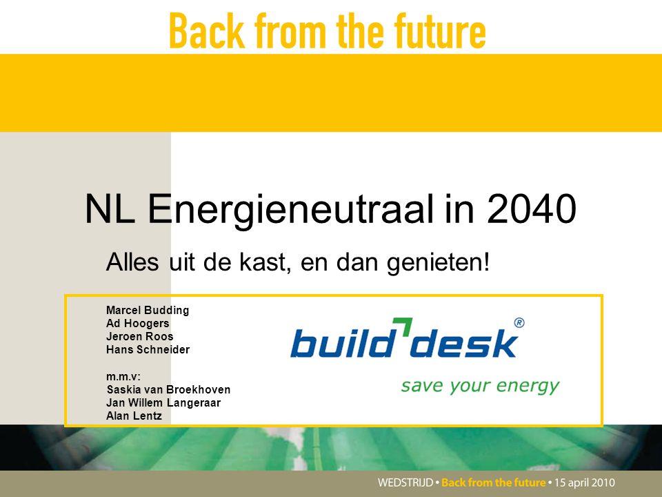 NL Energieneutraal in 2040 Alles uit de kast, en dan genieten.