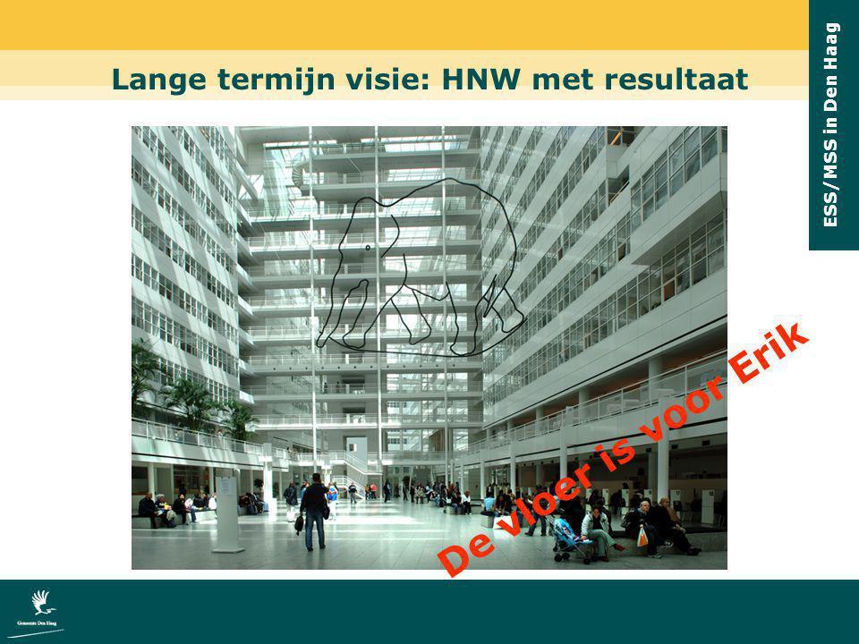 ESS/MSS in Den Haag Lange termijn visie: HNW met resultaat De vloer is voor Erik