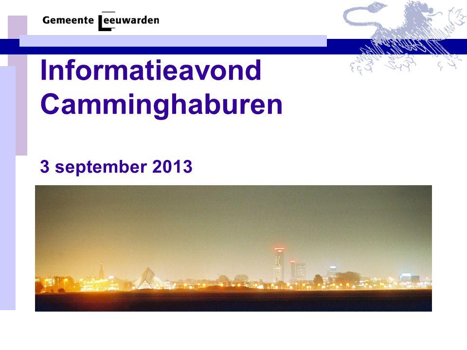 Informatieavond Camminghaburen 3 september 2013
