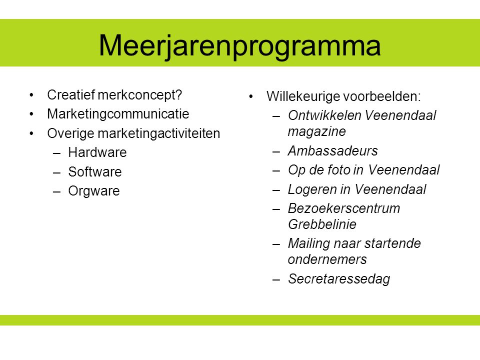 Meerjarenprogramma Creatief merkconcept.