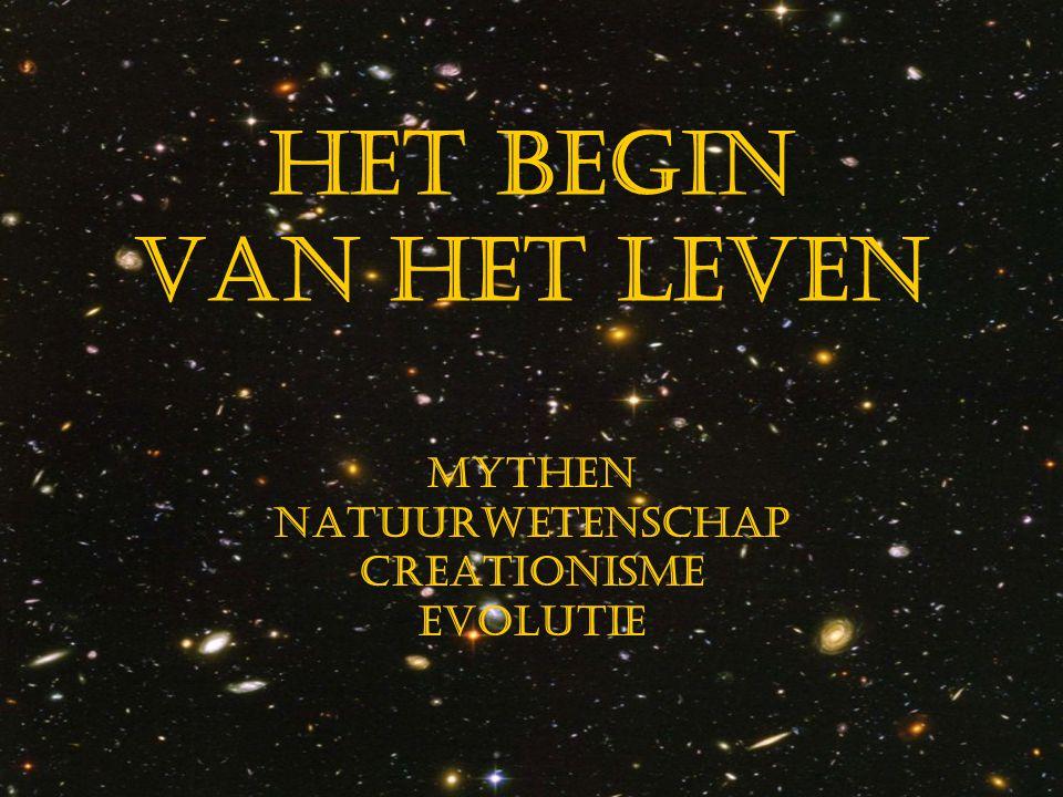 Het begin van het leven Mythen Natuurwetenschap Creationisme Evolutie