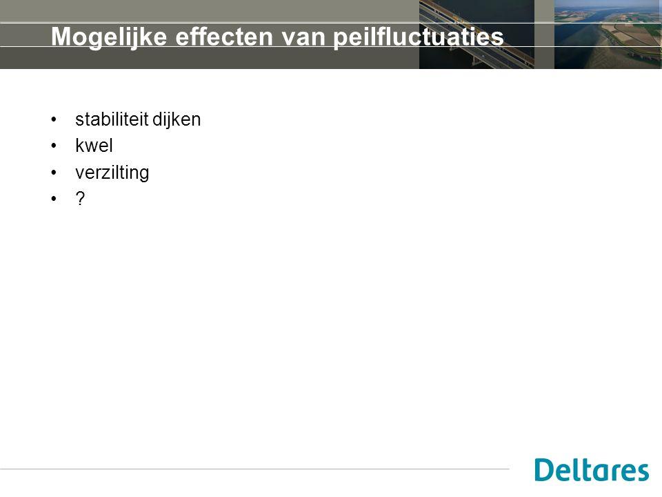 Mogelijke effecten van peilfluctuaties stabiliteit dijken kwel verzilting