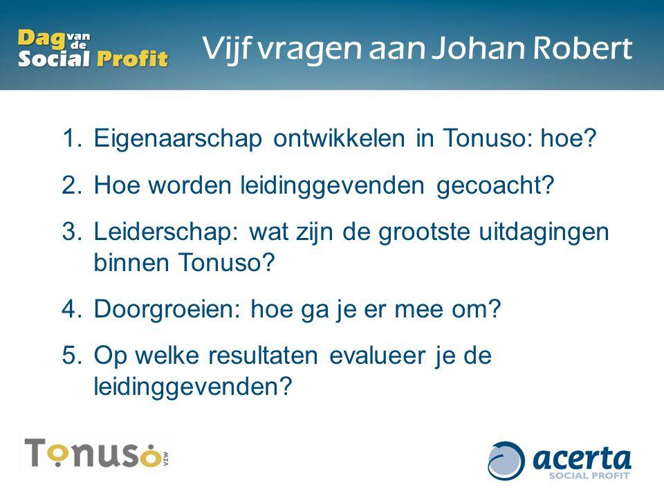 Vijf vragen aan Johan Robert 1. Eigenaarschap ontwikkelen in Tonuso: hoe.