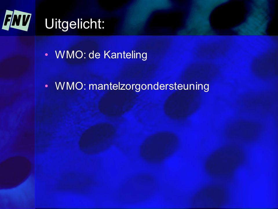 Uitgelicht: WMO: de Kanteling WMO: mantelzorgondersteuning