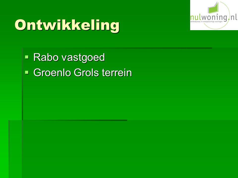 Ontwikkeling  Rabo vastgoed  Groenlo Grols terrein
