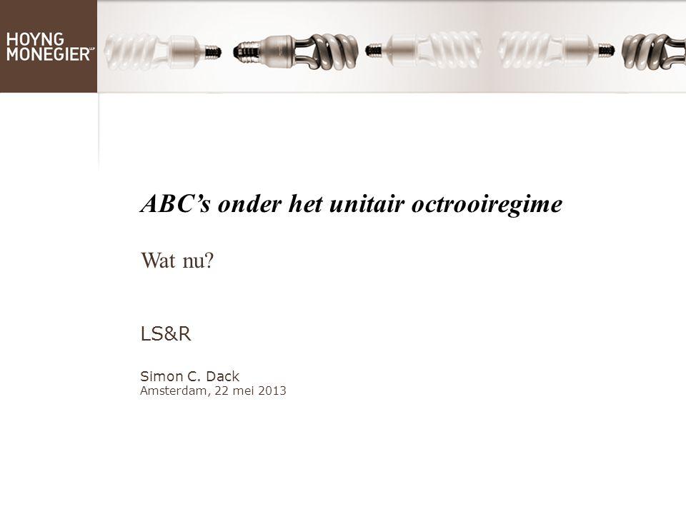 [TITLE IN CAPS, VERDANA, 32] ABC's onder het unitair octrooiregime Wat nu.