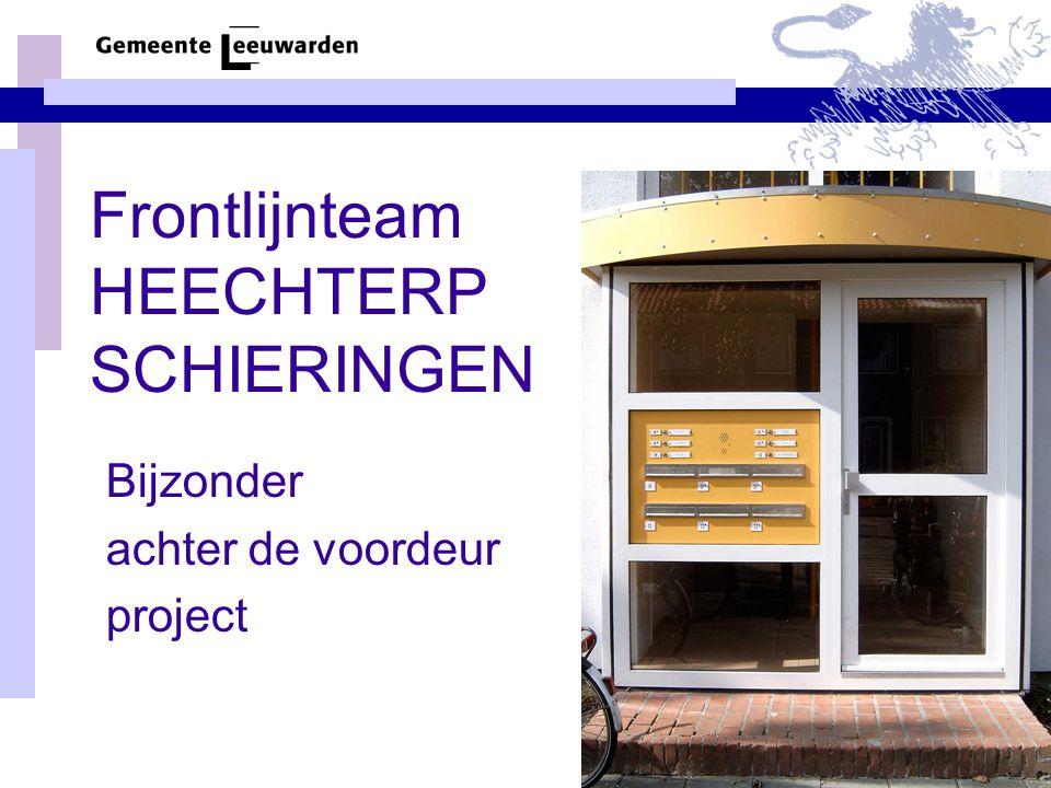Frontlijnteam HEECHTERP SCHIERINGEN Bijzonder achter de voordeur project