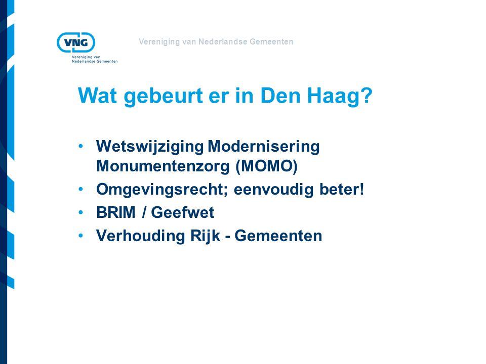 Vereniging van Nederlandse Gemeenten Wat gebeurt er in Den Haag.