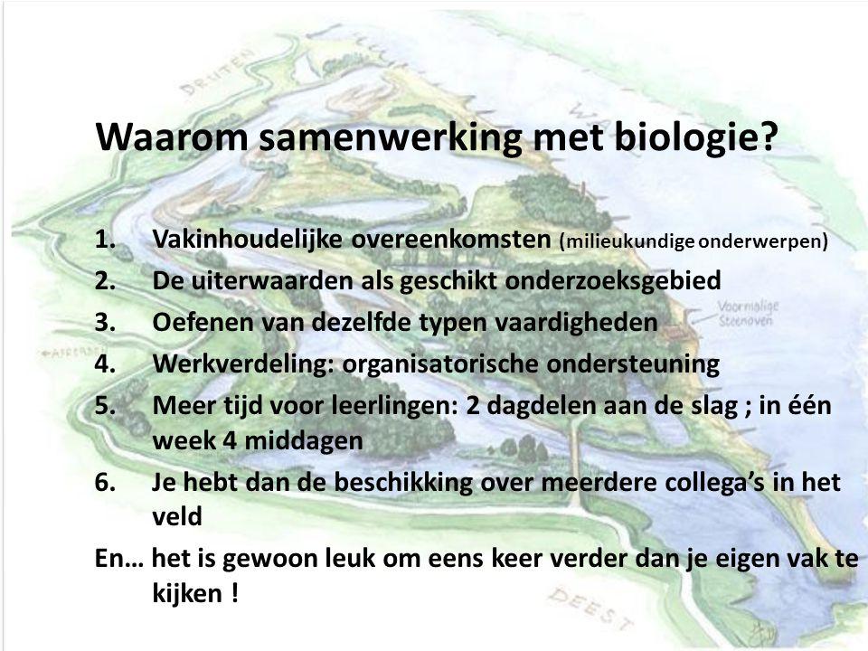 Waarom samenwerking met biologie.