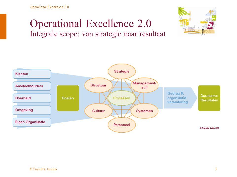 © Twynstra Gudde Operational Excellence 2.0 19 Operational Excellence 2.0 Waar te beginnen .