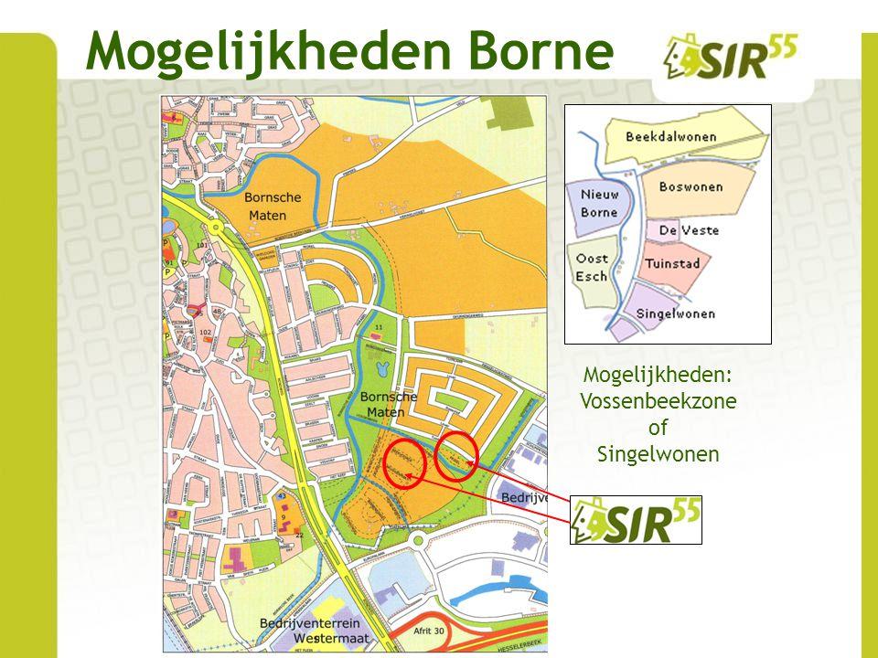 Mogelijkheden Borne Mogelijkheden: Vossenbeekzone of Singelwonen
