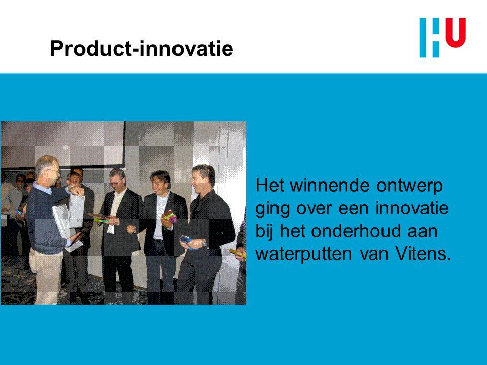 Product-innovatie Het winnende ontwerp ging over een innovatie bij het onderhoud aan waterputten van Vitens.