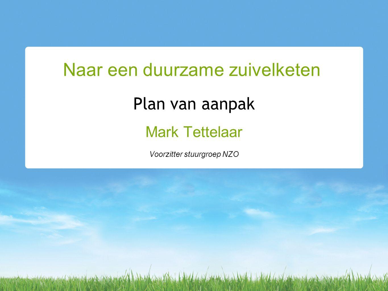 Plan van aanpak Mark Tettelaar Voorzitter stuurgroep NZO Naar een duurzame zuivelketen