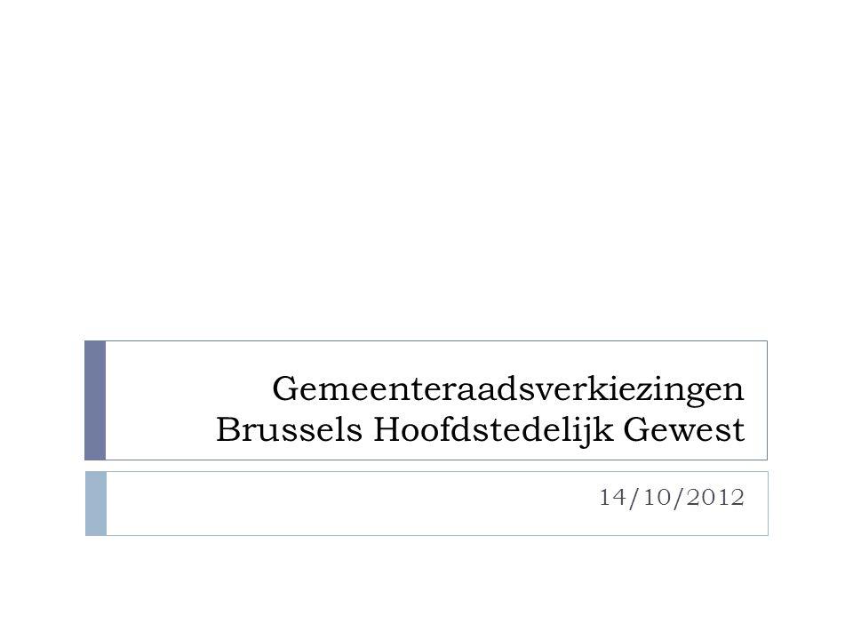 Gemeenteraadsverkiezingen Brussels Hoofdstedelijk Gewest 14/10/2012