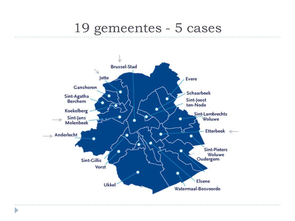 19 gemeentes - 5 cases