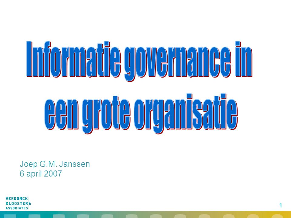 32 Clear governance relationships Business view Technology view  Business processes  Business rules  Domain structure  Functional architecture  Data architecture  Domain services  Governance model  Application programs and modules  Databases  Connectivity  Hardware, opera- ting systems, net-works  Middleware, data-base management systems Domains/servicesProcessesTechnologyApplications  Strategic aspiration  Business plan  Value proposition  Going-to-market model Business strategy BusinessIT Demand (CIO/DIO) IT Supply (IT Service organizations)