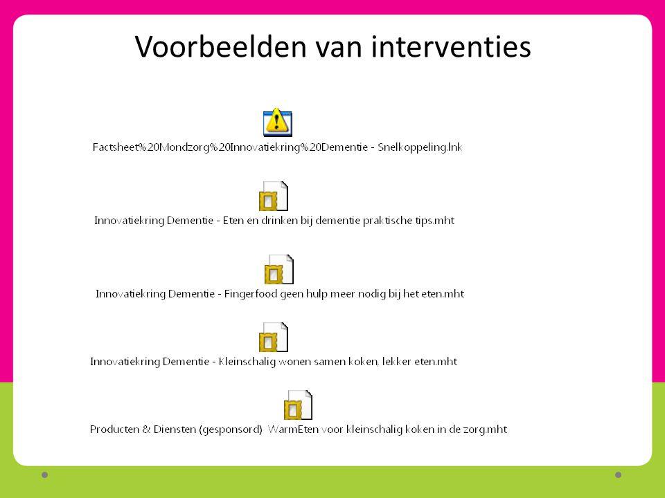 Voorbeelden van interventies