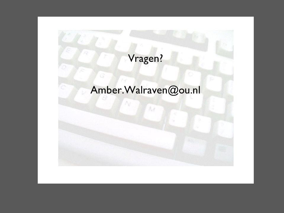 Vragen Amber.Walraven@ou.nl