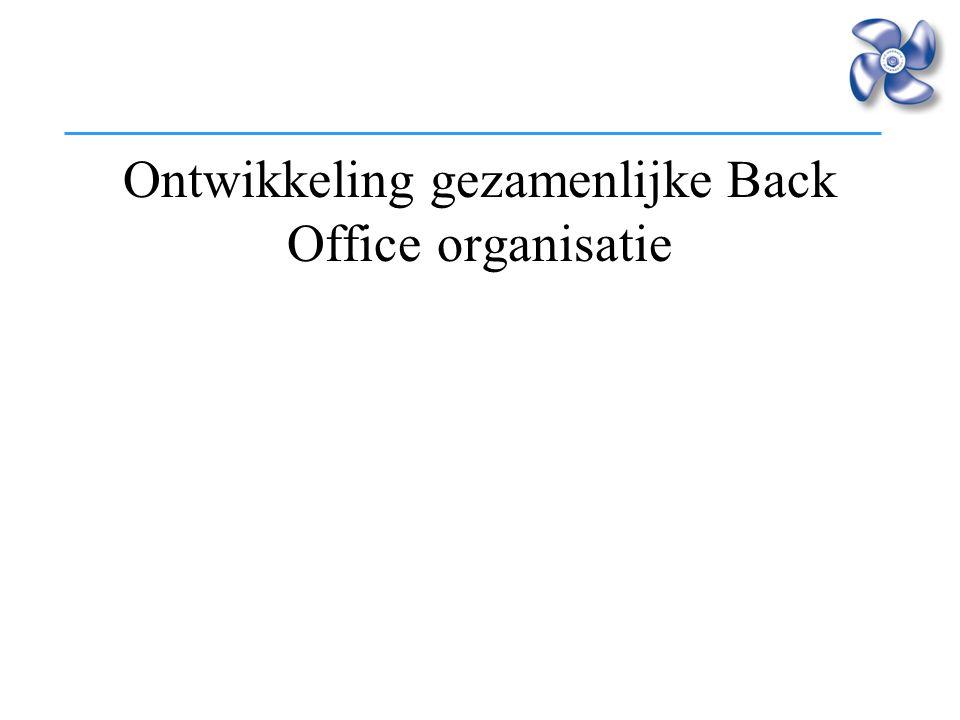 Ontwikkeling gezamenlijke Back Office organisatie