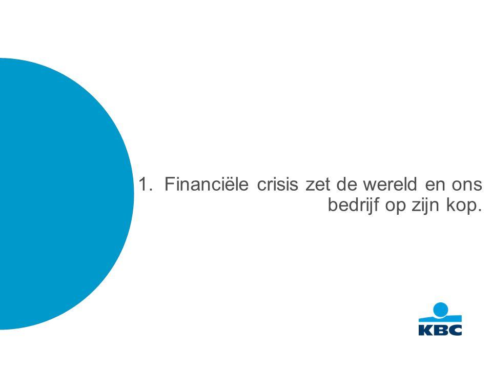 1. Financiële crisis zet de wereld en ons bedrijf op zijn kop.