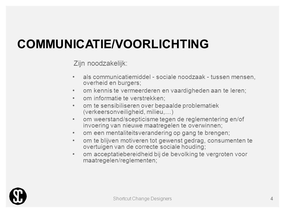 COMMUNICATIE/VOORLICHTING Zijn noodzakelijk: als communicatiemiddel - sociale noodzaak - tussen mensen, overheid en burgers; om kennis te vermeerderen