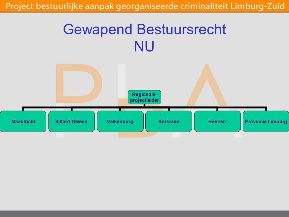 Gewapend Bestuursrecht NU Regionale projectleider Maastricht Sittard- Geleen ValkenburgKerkradeHeerlen Provincie Limburg