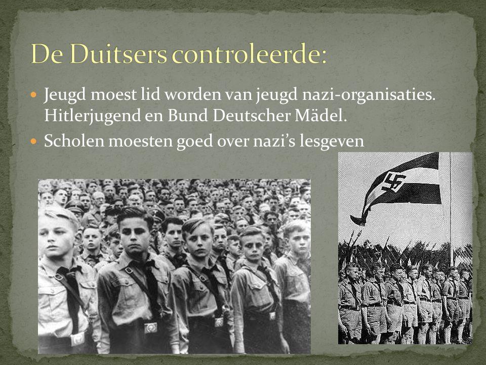 Jeugd moest lid worden van jeugd nazi-organisaties.
