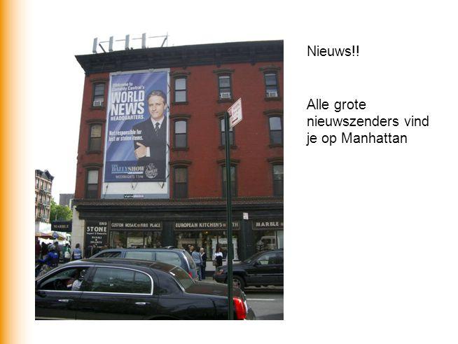 Alle grote nieuwszenders vind je op Manhattan Nieuws!!
