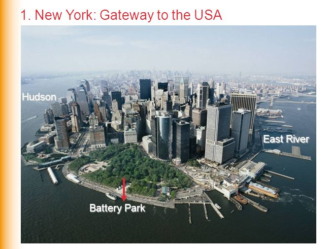 Hudson East River Battery Park 1. New York: Gateway to the USA