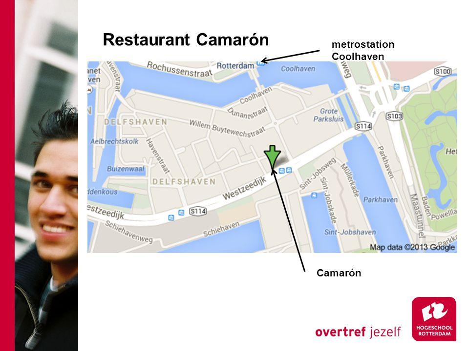 Restaurant Camarón metrostation Coolhaven Camarón