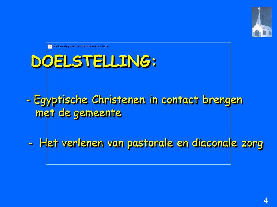 Probleemstelling:Probleemstelling: - Wat kan de E.A.G doen om contact te leggen met Egyptische christenen in Amsterdam .